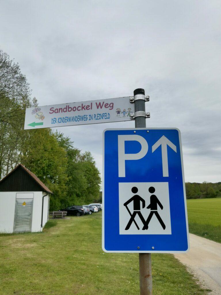 Parkplatz am Sandbockelweg in Markt Pleinfeld