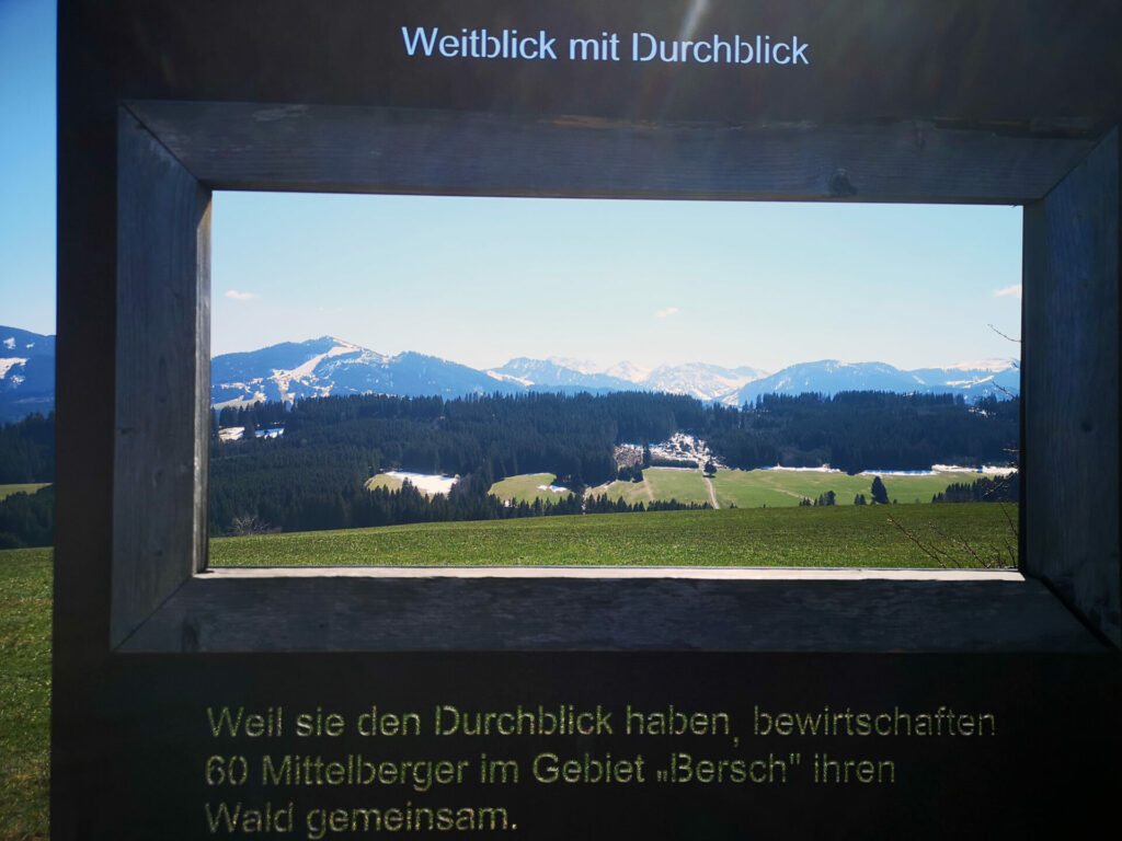 Weitblick mit Durchblick - Panoramaweg Oy-Mittelberg