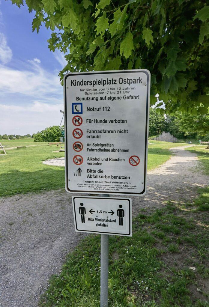 Kinderspielplatz - Ostpark in Bad Wörishofen
