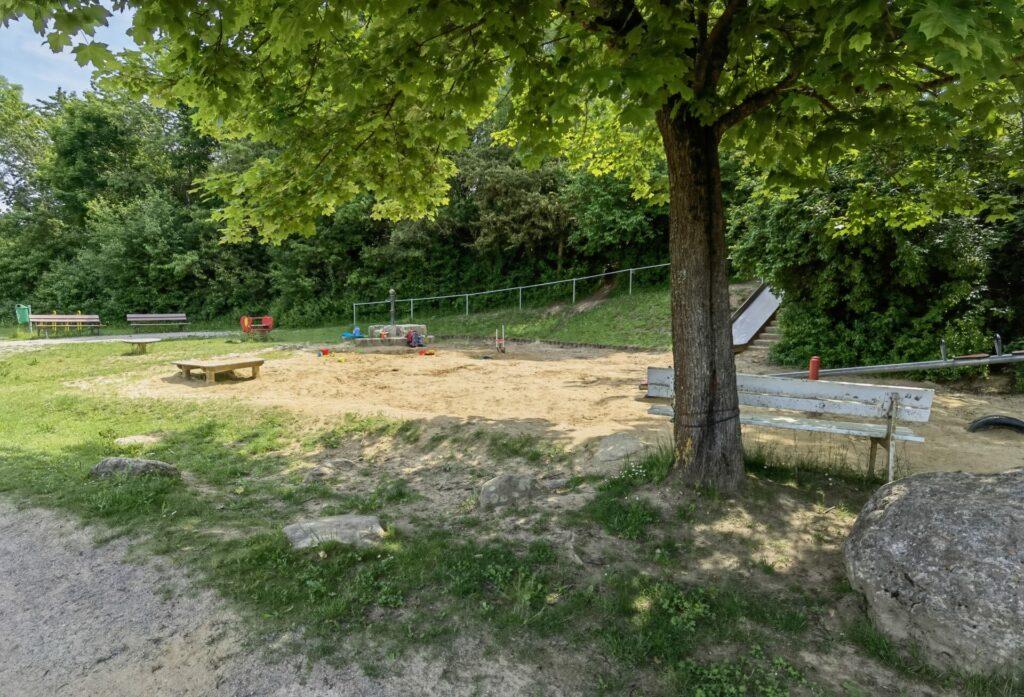 Sandspielplatz mit Wasserpumpe - Ostpark in Bad Wörishofen