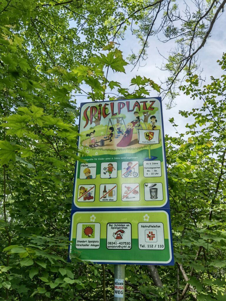 Spielplatz - Naturerlebnispfad Wertachauen in Kaufbeuren