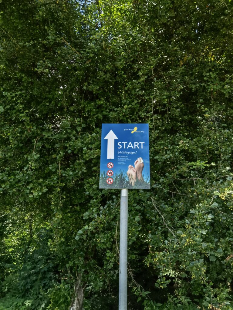 Startpunkt - Spalter Barfußweg